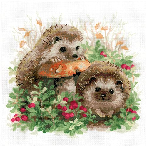 """Hedgehogs In Lingonberries Counted Cross Stitch Kit-9.75""""X9."""