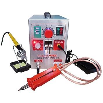 Zitainn 709A Multifuncional Alta potencia Batería de litio Abrazadera Microcomputadora automática Pantalla digital Pulso móvil con máquina de soldadura ...