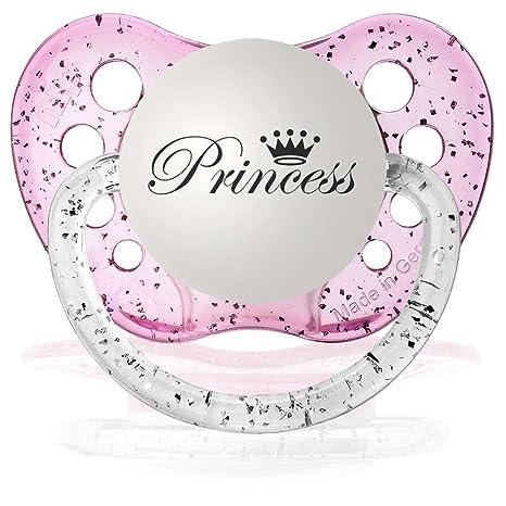 Amazon.com: Personalizada princesa chupetes Chupete Glitter ...