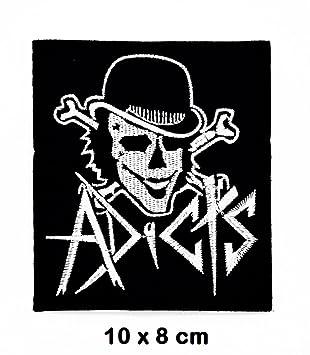 Adicts Joker Calavera Música Metal Punk Rock parche hierro ...