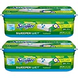 Swiffer Sweeper Wet Mopping Cloth Refills, Open Window Fresh, 24 Wet Cloths (Pack of 2)