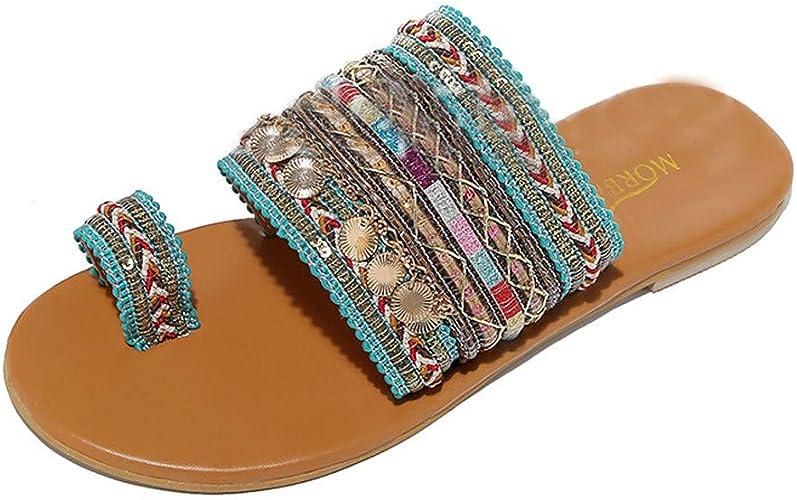 LHWY Sandalias de Vestir Chanclas Sandalias artesanales de Las Mujeres Chanclas Hechas a Mano Estilo Griego Boho Sandalias de Chanclas: Amazon.es: Zapatos y complementos