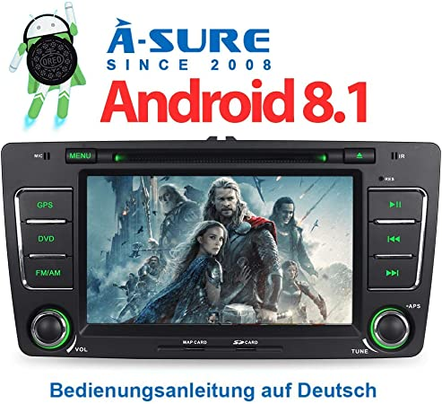 A Sure 2gb Ram 7 Android 8 1 8 0 Autoradio Dvd Gps Elektronik