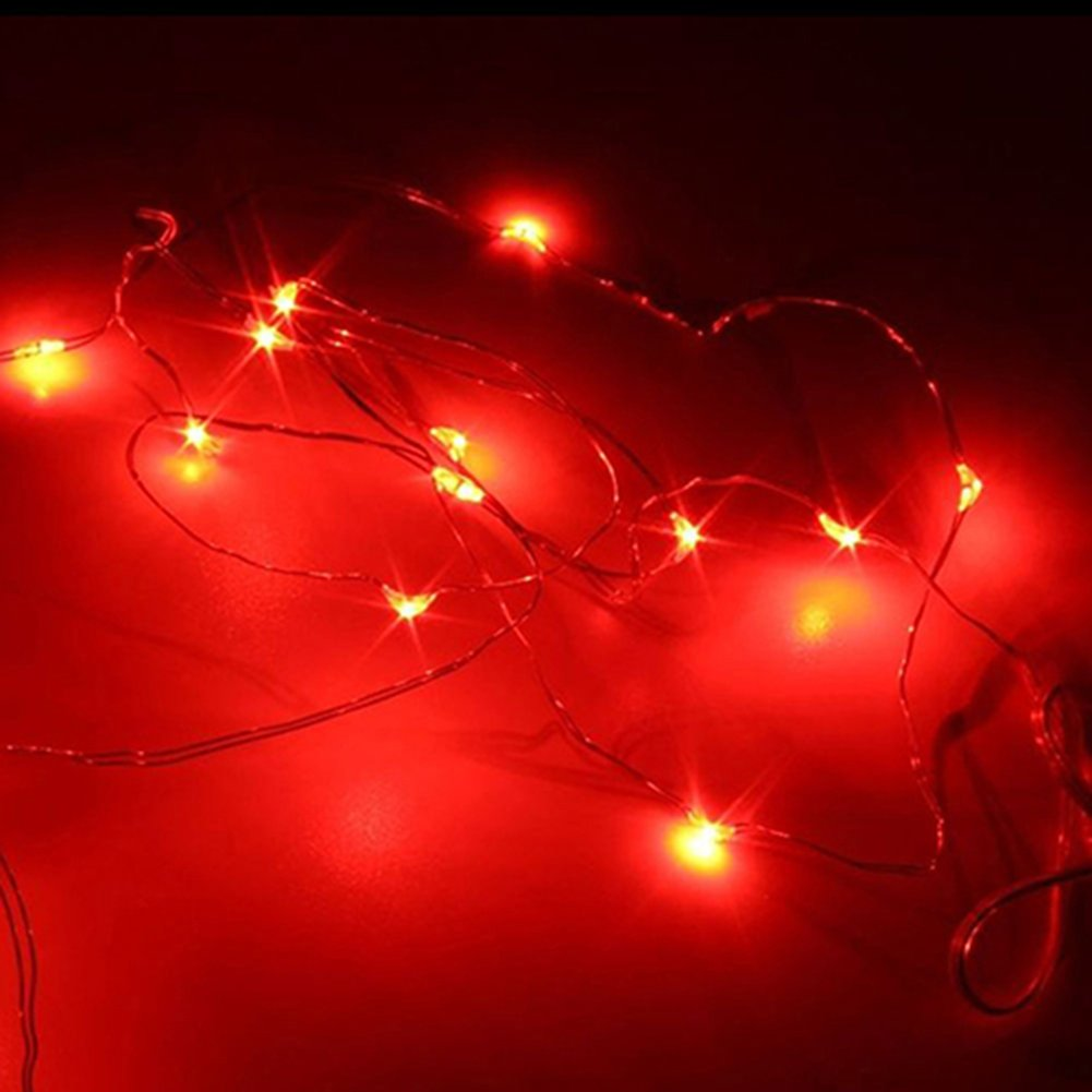 Bluelans® Battery Operated Fairy Lights with 20 Micro White LEDs on Silver Wire 2M (White)