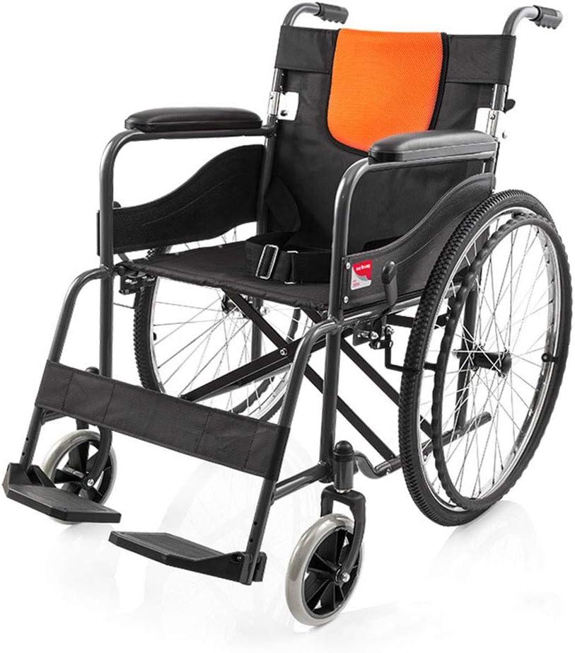 手動車いすのフルスチールフレームは、光と簡単に、キャリ駐車ブレーキ設計ペダルの高さは、快適で快適なクッションを調整することができます折り畳むことができます,wheelchair
