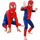 MyMei スパイダーマン 子供衣装 キッズコスチューム なりきり spiderman 変身 マーベル コスプレ 仮装 ハロウィン パーティ イベント (S)