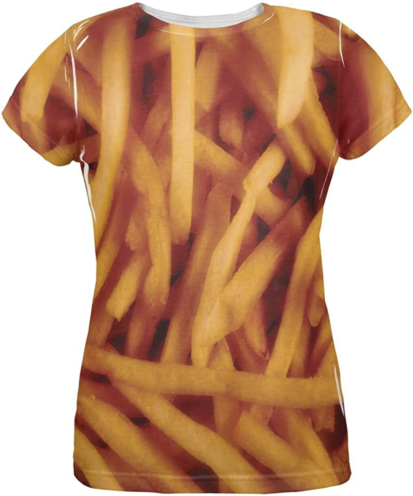 Fast Food Golden French Fries Costume All Over Womens T Shirt