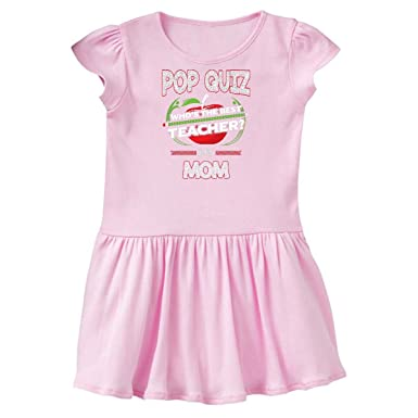 amazon com inktastic pop quiz mom best teacher toddler dress clothing
