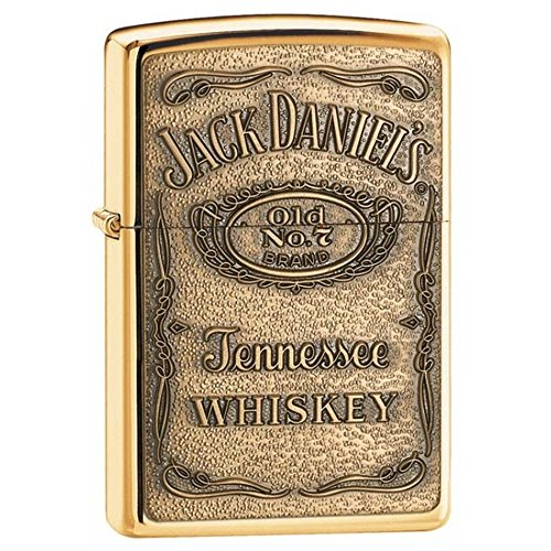 Vintage High Polish Brass Lighter - Jack Daniel'S High Polish Brass Zippo Outdoor Indoor Windproof Lighter Free Custom Personalized Engraved Message Permanent Lifetime Engraving on Backside