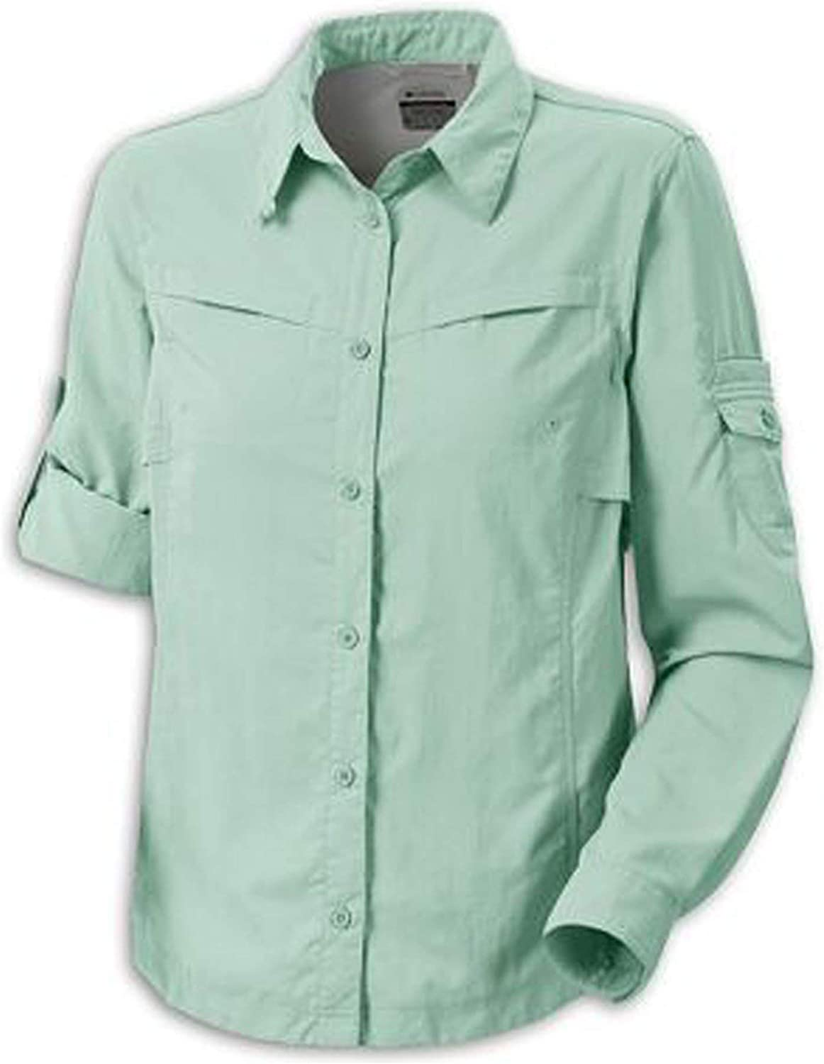 Columbia Womens Omni-Dry Silver Ridge III Long Sleeve Button Down Shirt UPF 30, Medium, Green: Amazon.es: Ropa y accesorios