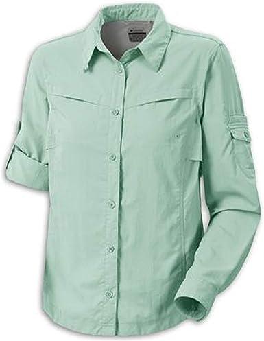 Columbia Womens Omni-Dry Silver Ridge III Long Sleeve Button Down Shirt UPF 30, Medium, Green: Amazon.es: Ropa y accesorios