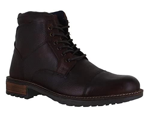 02181834 Catesby Mens Classic Leather Ankle Military Work Lace Up Boots UK 6 Brown