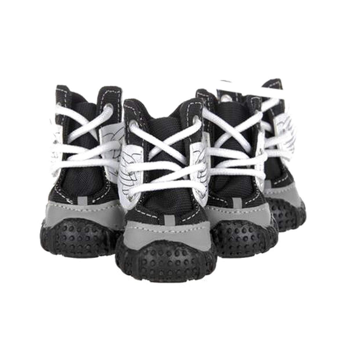 Black 5  Black 5  Dog shoes, Dog Rain Boots, Medium Dog Waterproof shoes, Puppy Hiking shoes, Pet Supplies, Black, Red (1 -5 ) (color   Black, Size   5 )