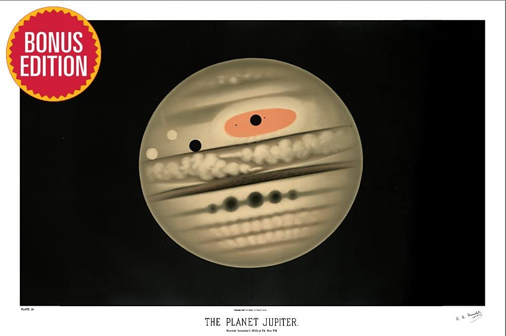 """24x36/"""" Jupiter Experience The Mighty Auroras NASA JPL Space Travel Poster"""