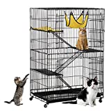 Nynoi Folding Pet Wire Cage Indoor Outdoor Playpen