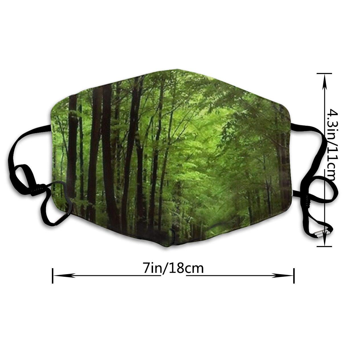 Amazon.com: GSUAJK Face Masks Anti-Dust Flu Mouth Mask - Deep in The Forest  Thick Green Vegetation Tree Nature Mouse Pad Mat Face Mask - Unisex Mouth  Mask: ...