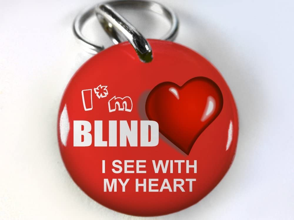 ID4Pet Service Dog Id Red Im Blind