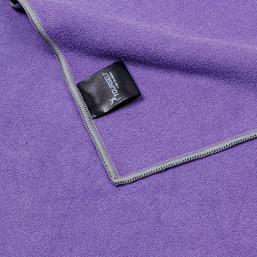 Syourself Yoga Towel-72″x24″- Non Slip,Ultra Absorbent,Soft -Perfect Microfiber Hot/Bikram/Skidless Yoga Towel-Protect Your Yoga Mat and Improve Your Grip(Yoga Towel: Purple 72) 61odLZ9vBBL