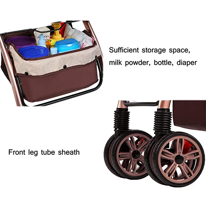 Paseante Ligero Cochecito Compacto Calesa Plegable Adecuado por Coche (Color : Purple): Amazon.es: Bebé