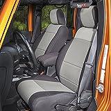 Rugged Ridge 13294.09 Black Seat Cover Kit, Gray; 2007-2010 Jeep Wrangler JK, 2 Door, 2 Pack