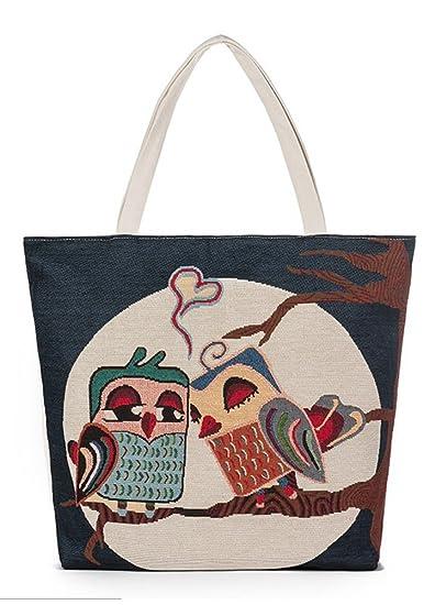 4b617ecb3171 VigourTrader Women's Canvas Tote Shoulder Bag Large Capacity