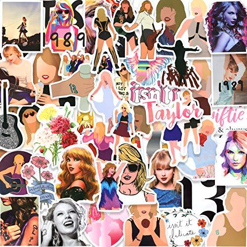Taylor Swift Stickers Pack 50PCS, Vinyl Stickers for Hydro Flask Laptop Water Bottles Skateboard, Waterproof Sticker for Teens, Adults, Boys, Girls