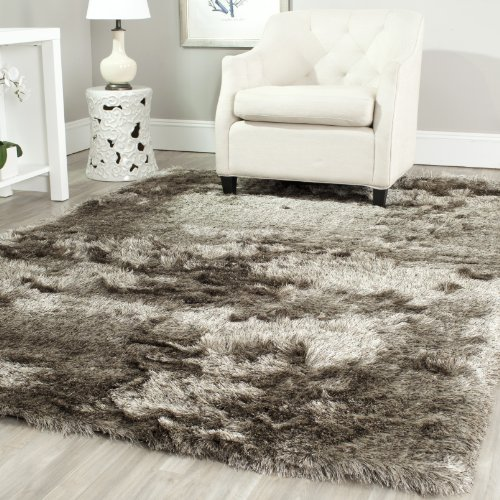 Safavieh Paris Shag Collection SG511-9292 Sable Polyester Area Rug (6' x (Casual Elegance Collection Rugs)