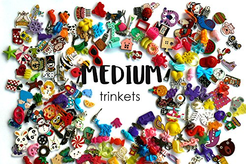 TomToy Medium Mixed I Spy trinkets for I spy Bag/Bottle, Speech Therapy, Language Objects, Miniatures, no Doubles, 2-4cm, Set of 20/50/100/200 (50 trinkets)