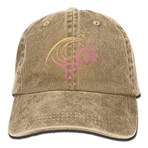 Men's Or Women's Funny Horse Denim Jeanet Adjustable Hip-hop Cap (Running Y Ranch Halloween)