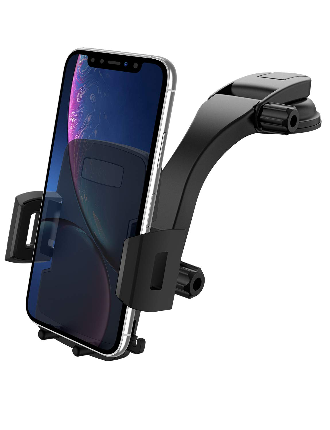 Car Phone Mount, Miracase Cell Phone Holder for Car Dashboard&Windshield Adjustable Vehicle Phone Support Universal Stand for iPhone Xs/XS MAX/XR/X/8/8Plus/7/7Plus, Galaxy S8/S9, Note 8/9/10(4''-6.5'')