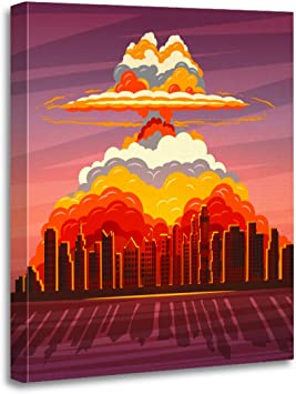 CANVAS Reds have atom bombs Art print POSTER