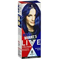 Schwarzkopf LIVE Colour Semi Permanent Hair Colour Ultra Brights Electric Blue 25ml