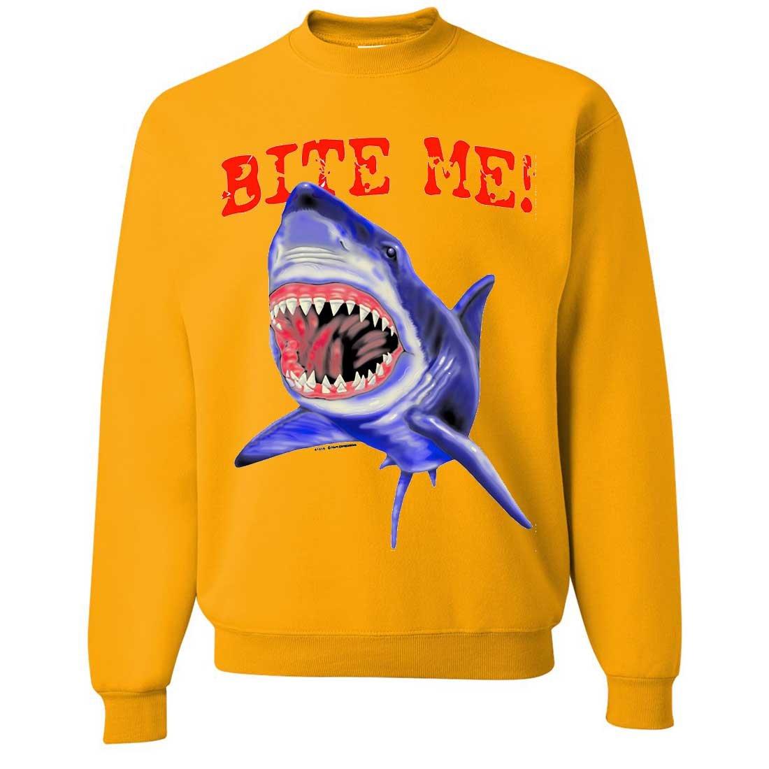 Bite Me Great White Shark Crewneck Sweatshirt