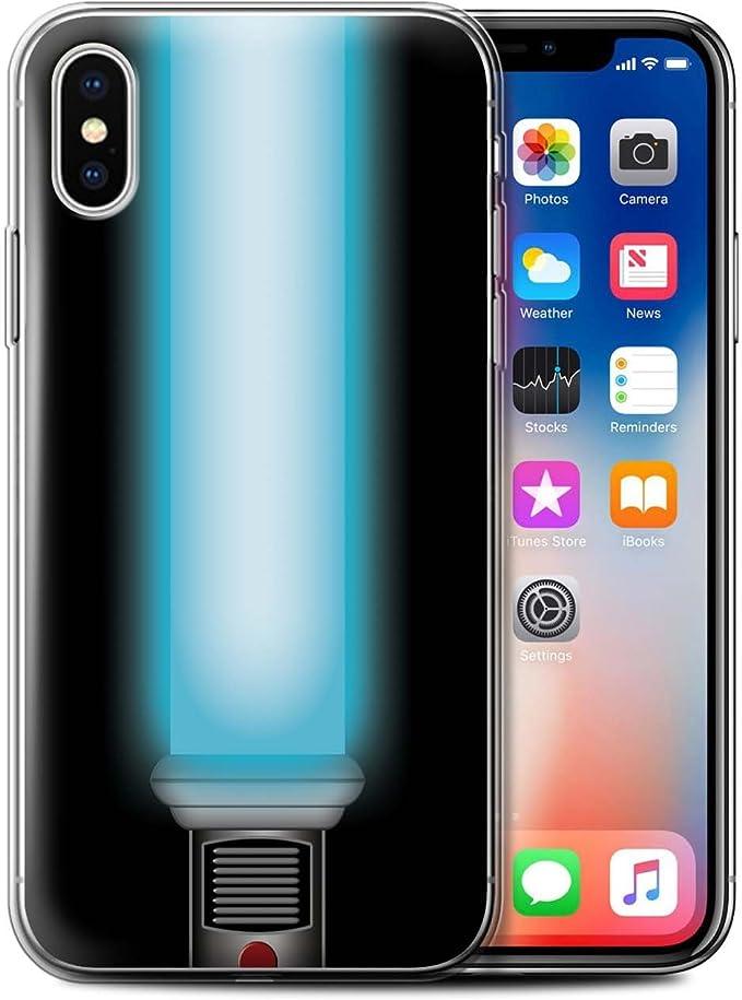 Stuff4® Phone Case/Cover/Skin/IP de GC/Lightsaber Laser Sword Collection Jedi Padawan Blau Apple iPhone X/10: Amazon.es: Informática