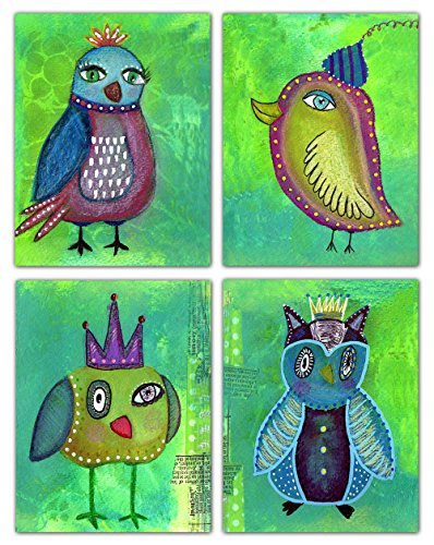 Quirky Bird Greeting Cards - Original Art - Stationary - Any Occasion - Blank on the Inside - Includes Cards and Envelopes - 5.5