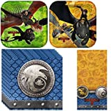 How to Train Your Dragon 2 Party Pack Including Plates, Napkins and Tablecover - 16 Guests