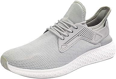 Zapatillas de Running para Asfalto para Hombre,Hombres Deportivos Zapatillas Transpirables Entrenadores Senderismo Fitness Aire Libre y Deporte Casual Zapatos Gimnasio Correr Sneakers: Amazon.es: Ropa y accesorios