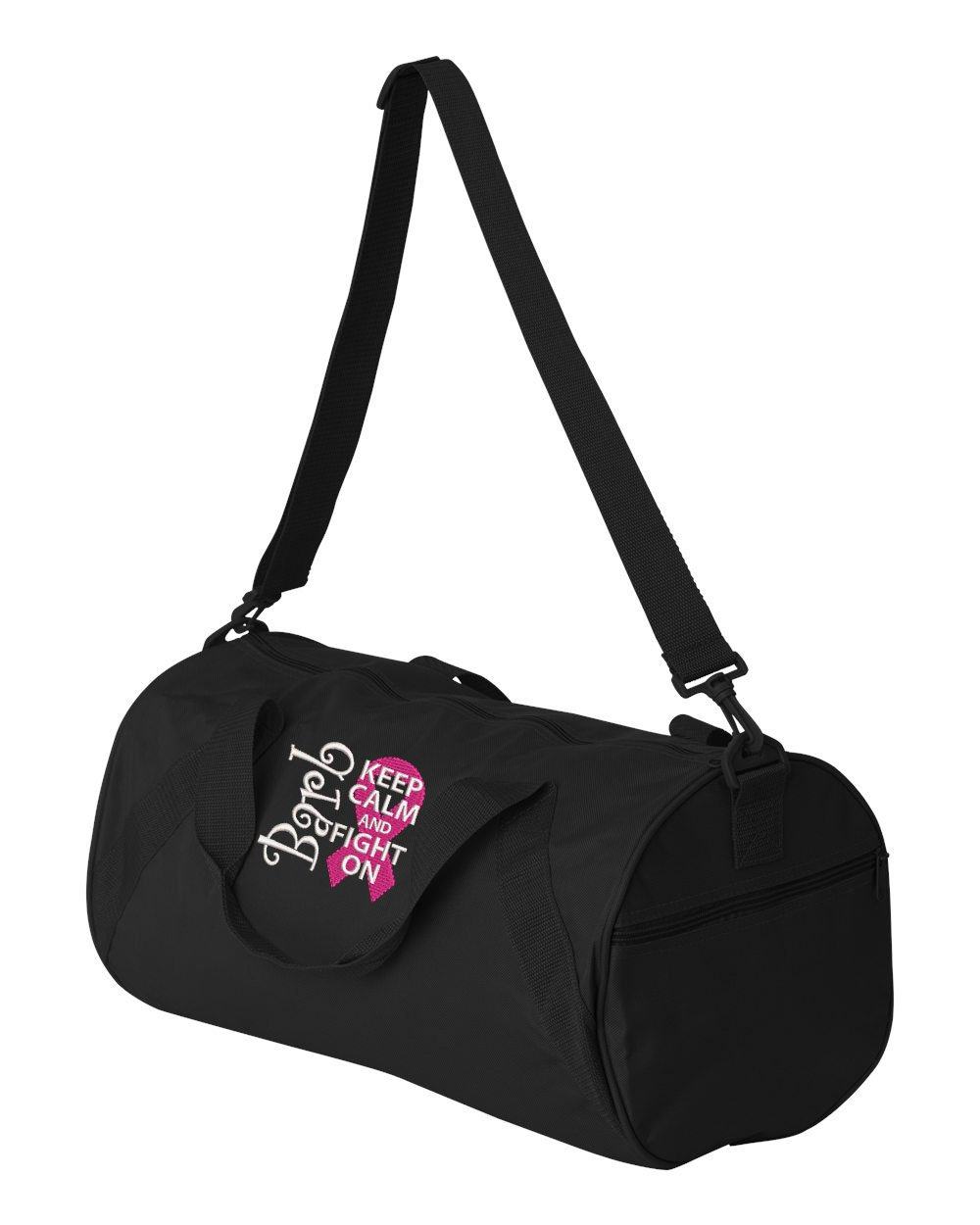 Breast Cancer Awareness Personalized Embroidered Duffle Bag