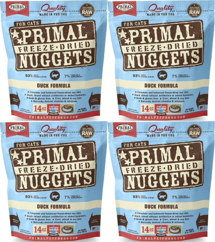 Primal Freeze-Dried Nuggets Duck Formula for Cats 56oz (4 x 14oz) by Primal