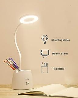Lámpara Escritorio LED, OMERIL Luz Lectura Recargable USB con ...