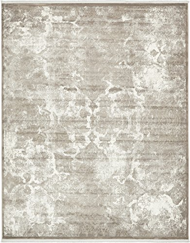 Vintage Castle Collection Rugs Gray 8' x 10' FT Area Rug - Modern & Traditional Design - Home ()