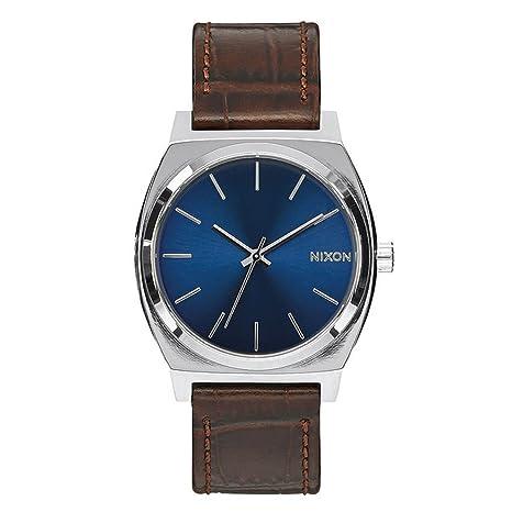 Nixon Time Teller - Reloj (Reloj de pulsera, Masculino, Acero inoxidable, Plata