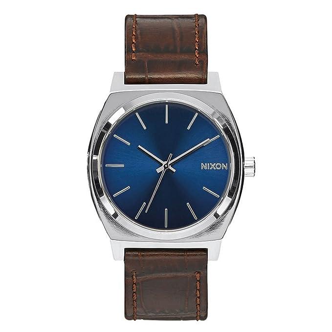Nixon Reloj analógico para Hombre de mecánico japonés con Correa en Cuero A045-1887-00: Nixon: Amazon.es: Relojes
