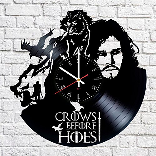 Fantasy Hero Handmade Vinyl Record Wall Clock – Get unique living room wall decor – Gift ideas for friends, boys, girls – Epic Drama Unique Modern Art