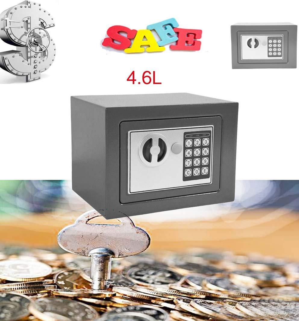 Elektronischer digitaler Safe fü r Zuhause, Bü ro, Geldkasten, wasserfest, Grau SiKy