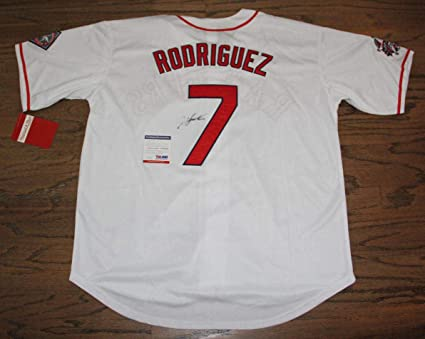 info for d7860 acb8e Ivan Rodriguez Signed Jersey - #ac50192 Hof - PSA/DNA ...