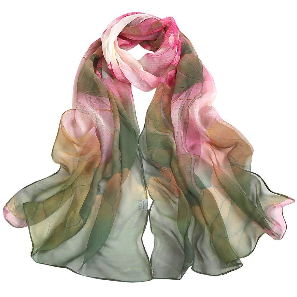 Women Scraf,Soild Dot Printing Wrap Long Lightweight Neckerchief Ladies Shawl Scarves (Green) by InMarry (Image #3)