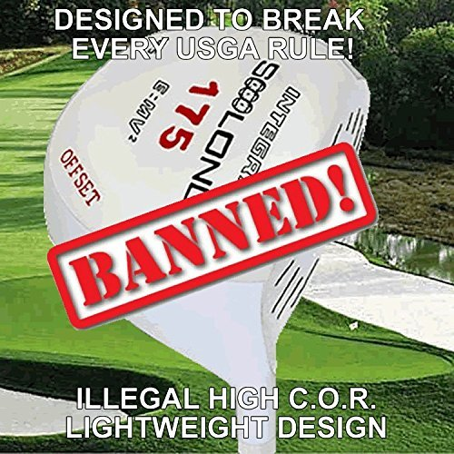 #1 Lightweight 175 Gram Slice Buster Anti-Slice Offset Illegal Non-Conforming Custom Golf Driver - Compare Callaway Epic Star by Integra Long Drive