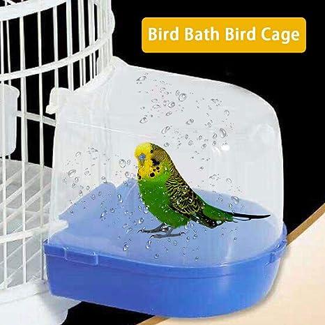courti Bird Bañera, Colgar la Jaula de pájaros Externo Sitio de ...
