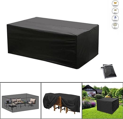 NBD® Funda protectora para mesa de jardín, Cubierta de Protección para Muebles de Jardín con cinta ajustable Contra el Sol de Lluvia de tamaño: 200 x 160 x 70 cm: Amazon.es: Jardín